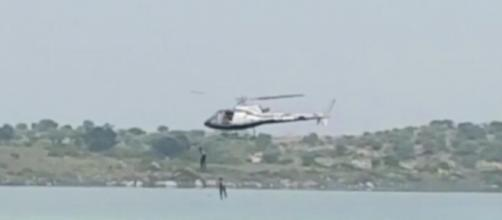 2 Kannada actors jump from chopper and drown (Youtube screen grab)