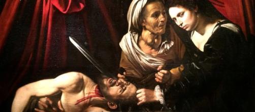 Giuditta e Oloforne, quadro di Caravaggio.
