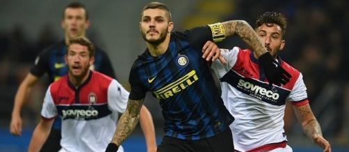 Mauro Icardi in azione durante Inter-Crotone