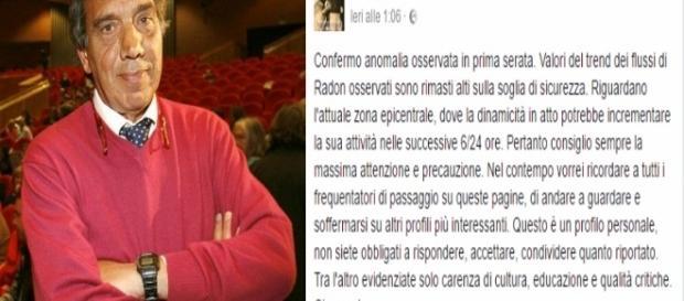 Giampaolo Giuliani previsione azzeccata