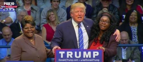 Donald Trump meets Rochelle Richardson and Lynette Hardaway. YouTube (Screencap-Fox 10 Phoenix)