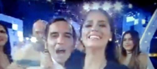 L'incontenibile gioia di Alessia Macari e dell'amico Bosco