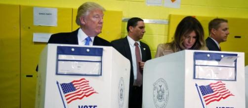 New York Daily News - Donald Trump Peeking At Wife's Ballot