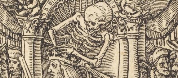 "Detail of Hans Holbein's ""Danse Macabre"" dodedans.com Creative Commons"