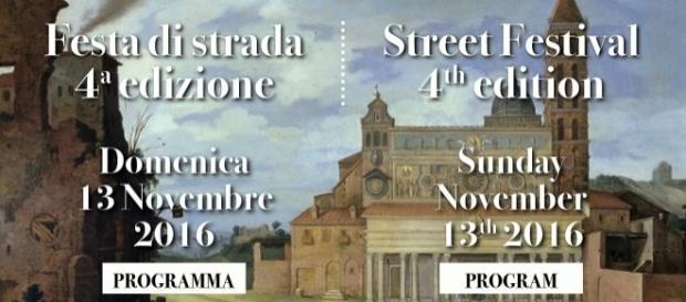 la locandina della 4 festa di strada di Via San Martino ai Monti
