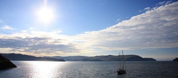 Região do lago Baikal na Rússia em que objeto voador com luz verde foi visto