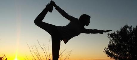 Una posizione yoga impegnativa