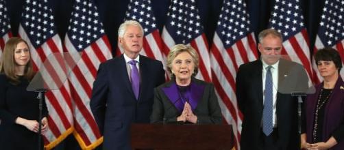 Hillary Clinton delivers her concession speech in New York, via krcrtv.com
