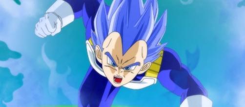 Vegeta dios azul se lanza a la batalla