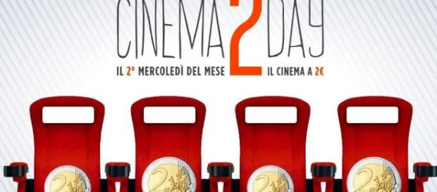 Cinema 2 Day: ogni secondo mercoledì del mese i film a 2 euro