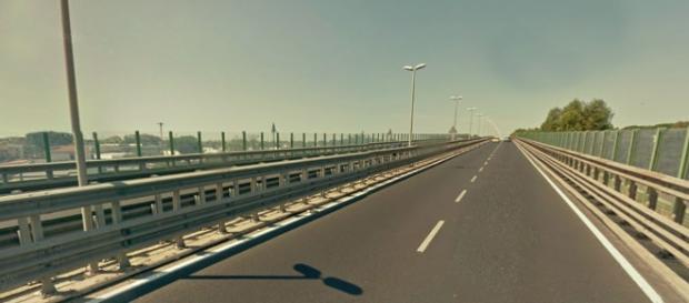 Il viadotto di via dell'Aeroporto di Fiumicino