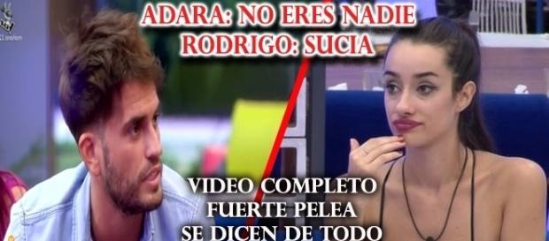La peor pelea de Rodrigo y Adara