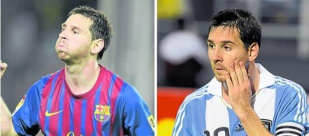 Las dos caras de Messi - Diario La Prensa - laprensa.hn