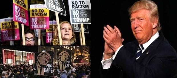 Manifestações contra o presidente eleito tomaram as ruas americanas nesta quarta-feira.