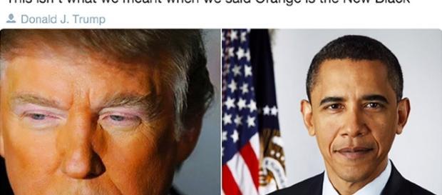 Post ironico raffigurante Donald Trump e Barack Obama