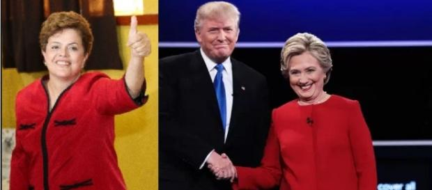 Trump e Dilma - Imagem Google/Internet