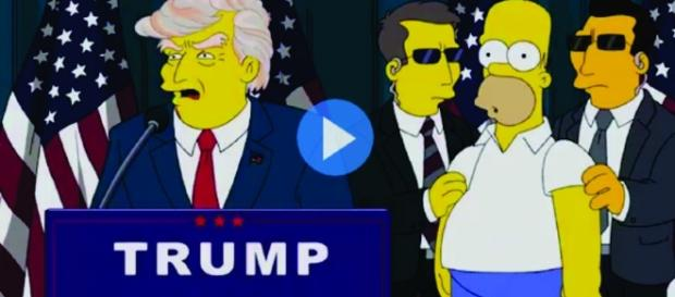 Trump presidente no seriado os Simpson