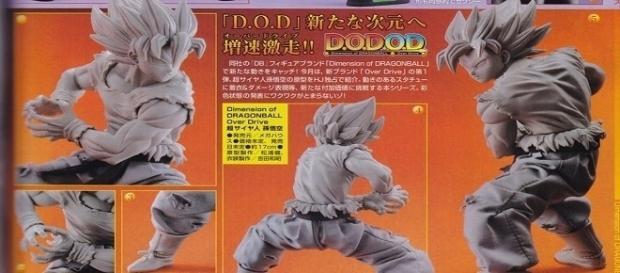 Vista del prototipo de la figura de colección de Goku.