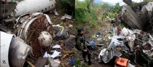 Fotos revelam o que aconteceu após a tragédia do avião que levava time do Chapecoense