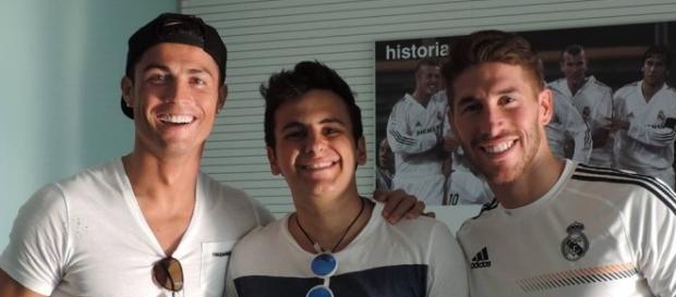 Cristiano Ronaldo, Jaime Acero y Sergio Ramos
