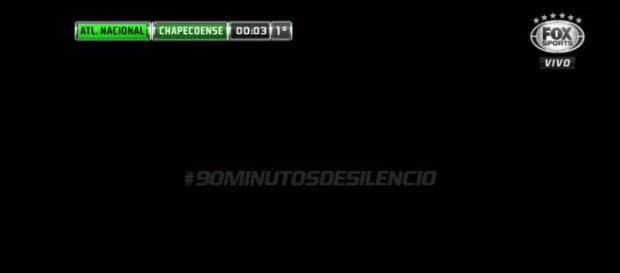 Fox Sports transmite 90 minutos de silêncio no horário do jogo