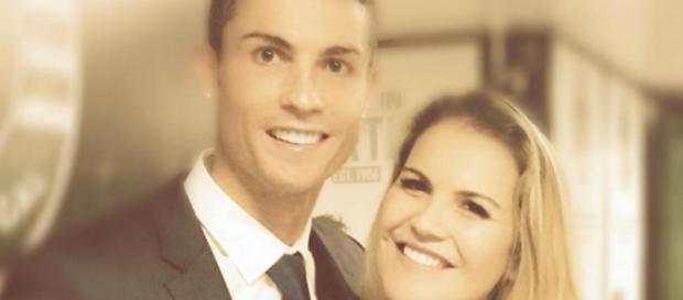 Cristiano Ronaldo et sa soeur.