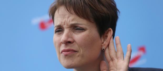 A líder do partido, Frauke Petry