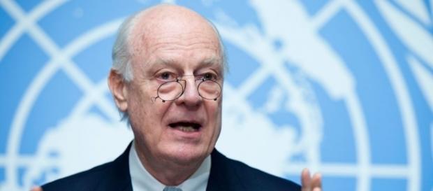 L'inviato ONU per la Siria, Staffan De Mistura