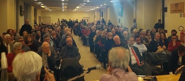 La platea dei soggetti della sinistra per il NO riuniti a Roma