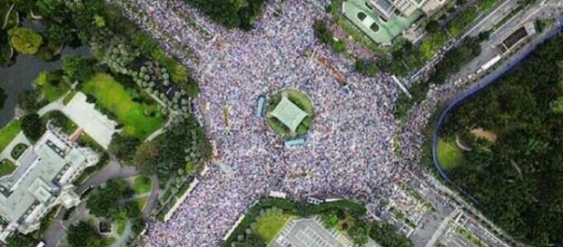 Manifestation pour la légalisation du mariage homosexuel à Taiwan - Crédits : PinkDotSG