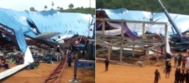 Telhado de igreja cai durante cerimônia na Nigéria