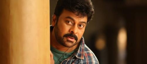A still of Chiranjeevi from Khaidi No.150