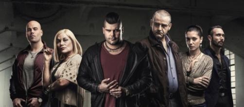 Alcuni personaggi della seconda serie di Gomorra: Ciro Di Marzio, Scianel, Genny Savastano.