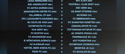 Los emparejamientos de los 16 avos de Europa League