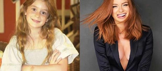 Antes e depois de famosas infantis