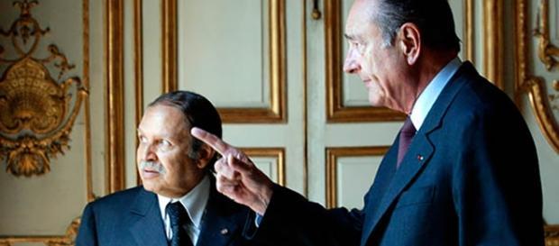 Bouteflika et Jacques Chirac -