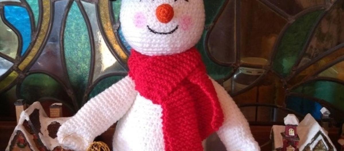 Contemporáneo Muñeco De Nieve Crochet Patrones Viñeta - Manta de ...