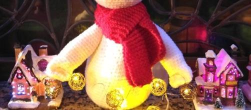 Crochet: muñeco de nieve SNOWMAN amigurumi con luz