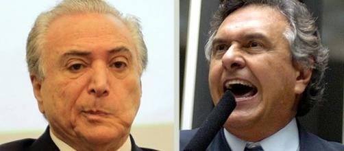 Ronaldo Caiado choca Michel Temer no Senado