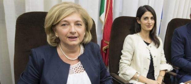 L'ex assessora Muraro e Virginia Raggi