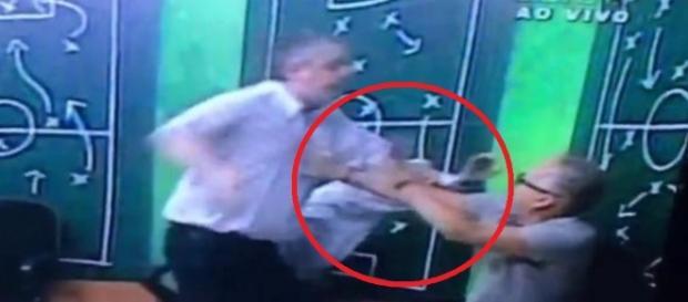 Cartola do Inter dá socos, ao vivo - Imagem/Youtube
