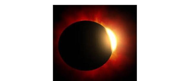 Eclipse solar- Imagem do sol escurecendo
