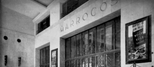 Fachada do antigo Cine Marrocos, hoje mais um prédio abandonado no centro da cidade.