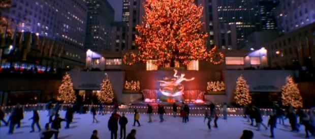 Pista di pattinaggio su ghiaccio / Natale / New York City / Stati ... - framepool.com