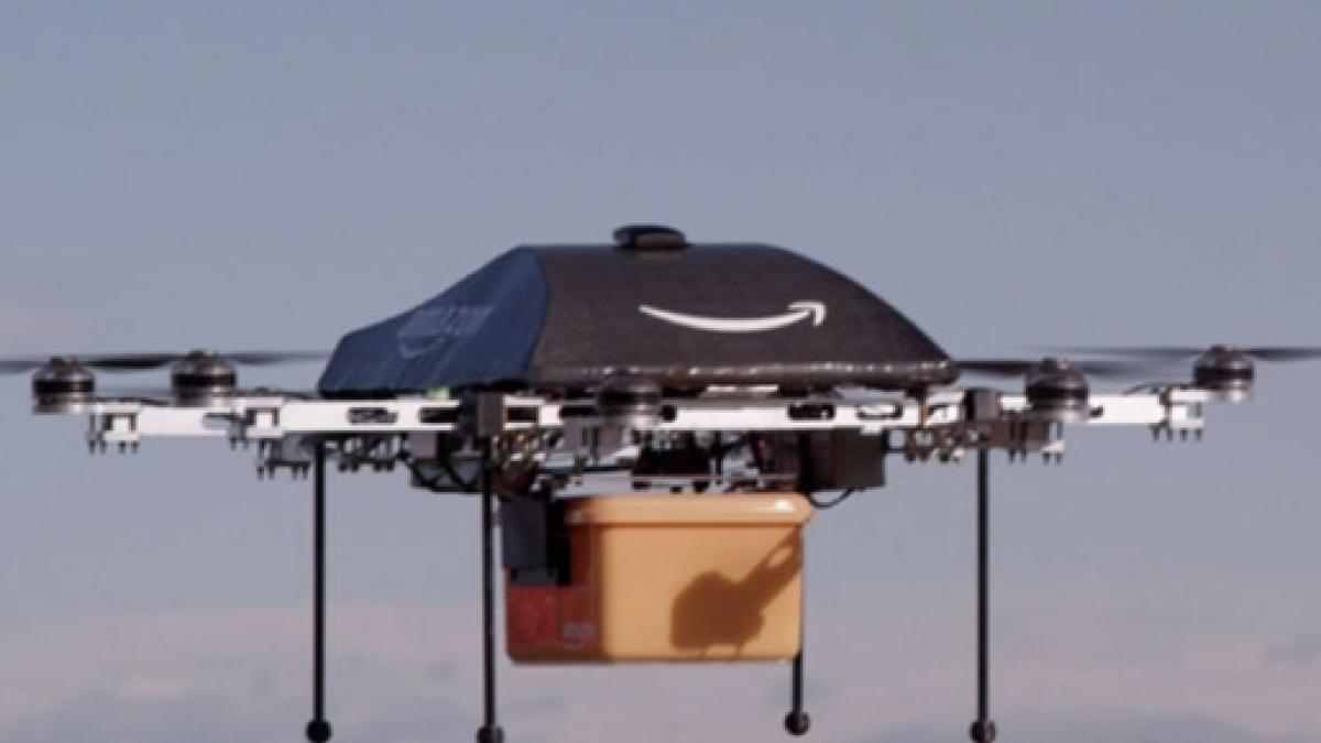 Amazon Premiere Livraison Reussie D Un Colis Par Un Drone