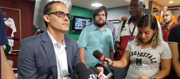 Em evento festivo nas Laranjeiras, Pedro Abad fala sobre o Fluminense na próxima temporada (Foto: Globoesporte)