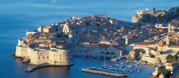 Imagen aérea de la bella ciudad de Dubrovnik.
