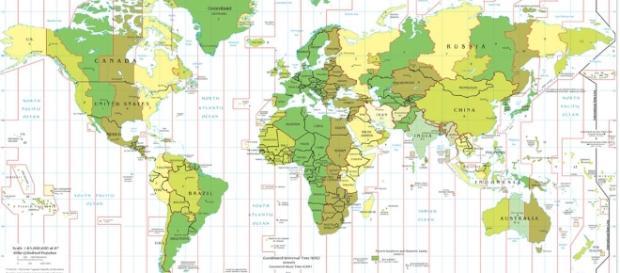 Mappa dei fusi orari - Carte-monde.org