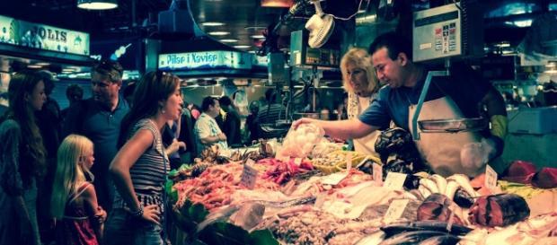 Mercado en Barcelona, España. Fotografía de Art L