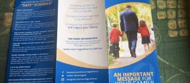 Tract homophobe distribué aux élèves d'une école australienne - Damien Stevens (facebook)